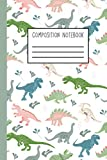 Composition Notebook: Dinosaur Blank Notebook for Kids - White and Pastel Diplodocus Paperback Journal