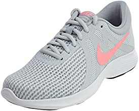Nike Women's Revolution 4 Running Shoe, Pure Platinum/Sunset Pulse-Wolf Grey, 9 Regular US