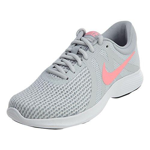 Nike Women's Revolution 4 Running Shoe, Pure Platinum/Sunset Pulse-Wolf Grey, 10 Regular US