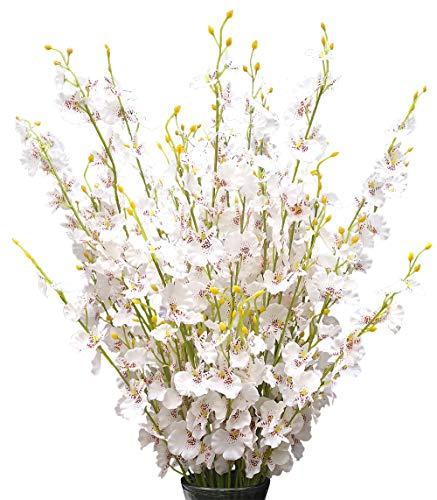 "Silk Flowers in Bulk Wholesale Artificial Orchids, 12 Pcs (Each 38.5""), for Wedding Festive Party Home Office Decoration, Not Include Vase"