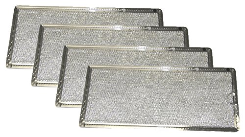 Grease Filter Compatible with GE Microwave Range Hood , 4 Filters - Nispira WB06X10596