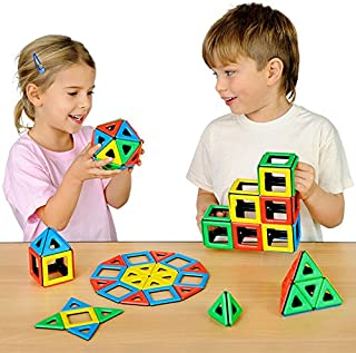 Polydron Magnetic Class Set Educational Construction Toy Suitable for Children 3+ Years Old