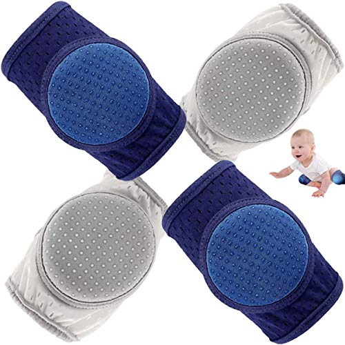 Baby Anti Slip Knee Pads for Crawling, Toddler Leg Warmer Safety Protective Cover, Adjustable Kneepads Unisex Babies