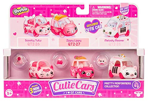 Cutie Cars Shopkins Three Pack - Pretty Performers Collection