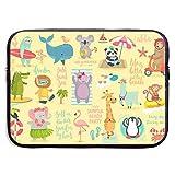 Estuche para portátil Beach Animals Hand Drawn Style, Summer Set Laptop Bag