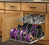 Rev-A-Shelf 21' 2-Tier Soft-Close Cookware Base Organizers, Chrome