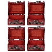 木製ジュエリーオーガナイザー、レトロなスタイルのコンパクトな形の古い工芸品のジュエリーボックス、装飾用のポータブルドレッシングテーブル