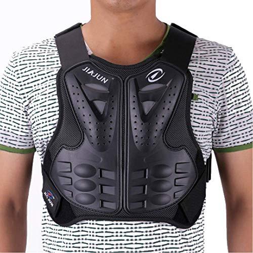 Off-Road Erwachsene Rüstung Kleidung, Racing Motorrad Schutz Brustschutz Rüstung Reitanzug CS Paintball Rüstung Motorbike Jackets,Schwarz,XL
