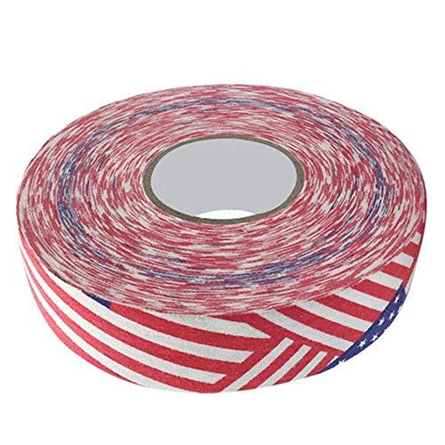 𝐖𝐞𝐢𝐡𝐧𝐚𝐜𝐡𝐭𝐬𝐠𝐞𝐬𝐜𝐡𝐞𝐧𝐤 Hockeyschlägerband Badmintonband, 2,5 cm x 25 m Hockeyband, Sicherheitsschläger(Stars and Stripes)