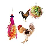 Vehomy Chicken Toys for Hen with Natural Colorful Loofah Shredder Toys Handmade...