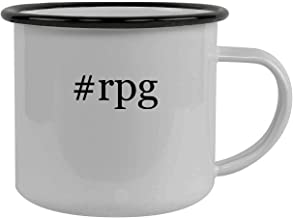 #rpg - Stainless Steel Hashtag 12oz Camping Mug, Black