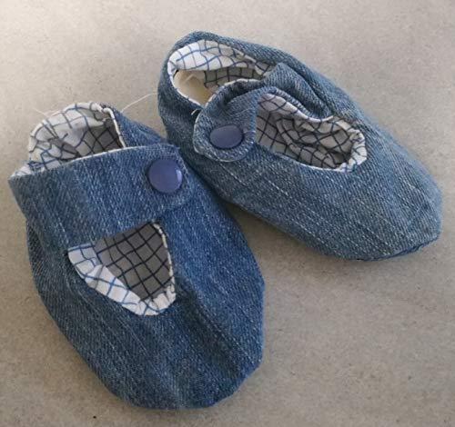 Babyschuhe Krabbelschuhe Puschen blau Jeans