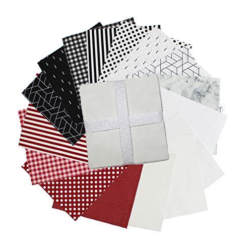Camelot Fabrics 0672901 Camelot Mixology Lady Bug 10'' Squares 42 pcs Stoff, Textil, multi, Each