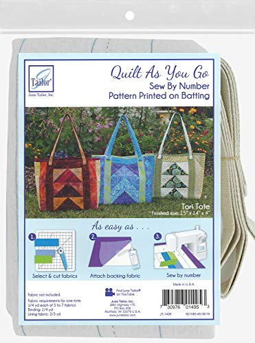 June Tailor Quilt As You Go Tote Pattern, Tori 15'x14'x14'