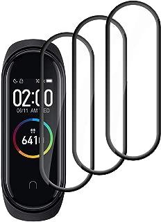 【3枚セット】seinal Xiaomi Mi Band 4 フィルム Xiaomi Mi Smart Band 4 保護フィルム 3D曲面 Mi band シート Xiaomi スマートバンド 液晶保護フィルム 全面保護 高透過率 超薄型 PET素材 耐衝撃 手触り良い 柔らかい 指紋防止