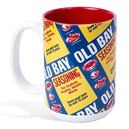 Old Bay Can Pattern Mug Can Seasoning Crab Seafood Spice Gift Coffee Tea Drink