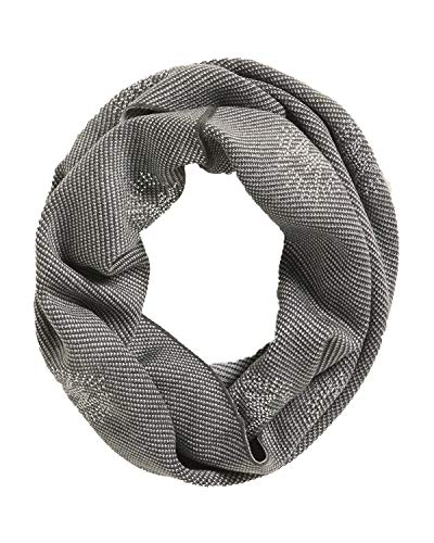 MICHAEL Michael Kors Women`s Embellished Twill Studded Logo Wrap Infinity Scarf (Pearl Heather Grey(537801C-022), One Size)
