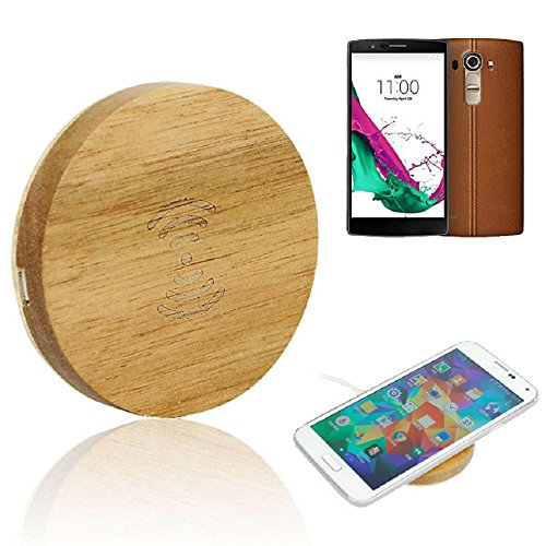 TONSEE LG G4 Qi Wireless Charger, Wooden Wireless Charger Charging Pad for LG G4, Samsung