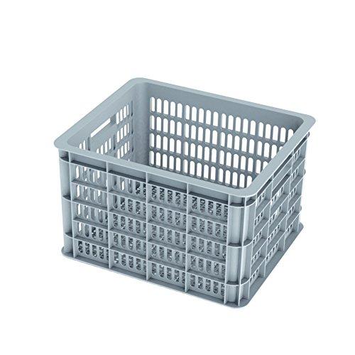 Basil Crate M Fahrradkasten, grau, 40 x 33 x 25 cm