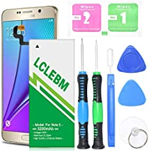 LCLEBM Galaxy Note 5 Battery,Upgraded [ 3200mAh ] Durable and Powerful A Li-ion Battery for Samsung Galaxy Note 5 SM-N920 N920V, N920A, N920T, N920P, N920R4,Free Replacement Tools [24 Month Warranty]