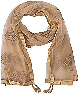 Women's Net Dupatta With Embroidery Work (size:2.25mtr)