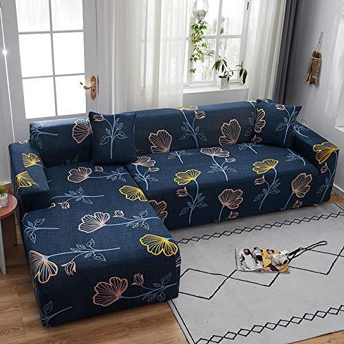 PPMP Funda de sofá elástica elástica, Utilizada para la Funda de sofá de Spandex de la Sala de Estar, Funda de sofá, Toalla de sofá elástica, Forma de L, Funda de sofá A10 de 2 plazas