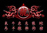 Chinese Writing - Zodiac, Dragon - Poster Chinesische
