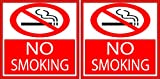 Rogue River 8' 2 Pack No Smoking Sign Decal Indoor Outdoor Window Door No Cigarette Smoker (8' 2 Pack)