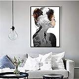 nr Buceo Fotografía en Blanco y Negro fotografía Antigua póster de Moda Retro Lienzo Pintura baño decoración de la Pared del hogar 60x80 cm Sin Marco