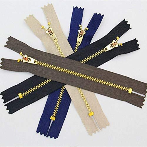 Houer 10 STKS Naaien Metalen Ritsen Auto Lock Zwart DIY Zip Voor Naaien Jeans Schoeisel Denim Rok, zwart, 8cm