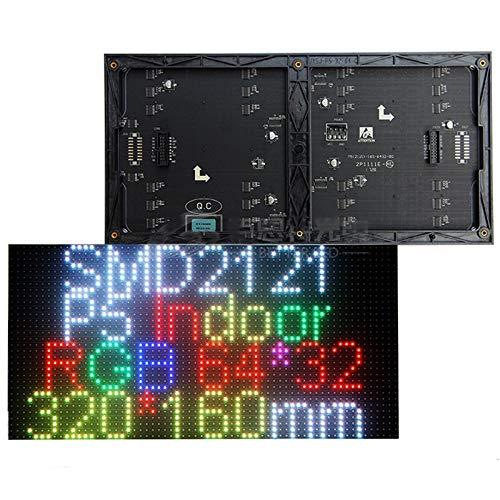 P5 SMD2121 RGBフルカラーLEDディスプレイモジュール、屋内LEDパネル、1/16スキャン320 * 160 mm、テキスト、写真、ビデオショー (5 mmピクセルピッチ-320*160mm)