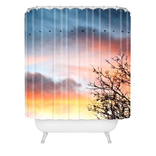 - DENY Designs Bird Wanna Whistle Bird Line Shower Curtain, 69 by 72-Inch