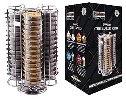EVER RICH ® Soporte/Soporte para cápsulas de café para cápsulas Tassimo T-Disc - Tiendas Bosch Tassimo T-Discs Cápsulas de café (Chrome 60)