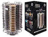 Ever Rich ® Tassimo T-Disc Capsule Pod Holder - Stores Bosch Tassimo T-Discs Coffee Capsule Holder (60 Chrome)