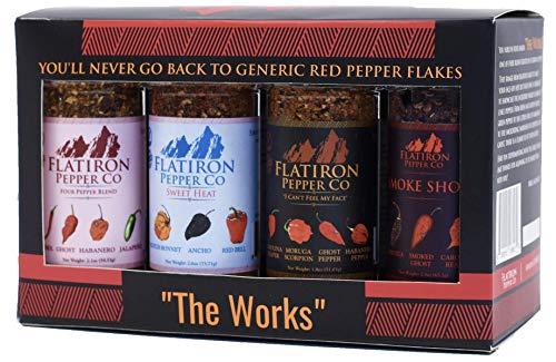 "Flatiron Pepper Co - ""The Works"" 8 bottle Combo Set"