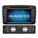 Ohok 7 Zoll Bildschirm 2 Din Autoradio Android 8.0.0 Oreo Radio mit Navi DVD GPS Navigation Unterstützt Bluetooth DAB+ für Mercedes-Benz C Class/CLK/A-Class mit Rückfahrkamera