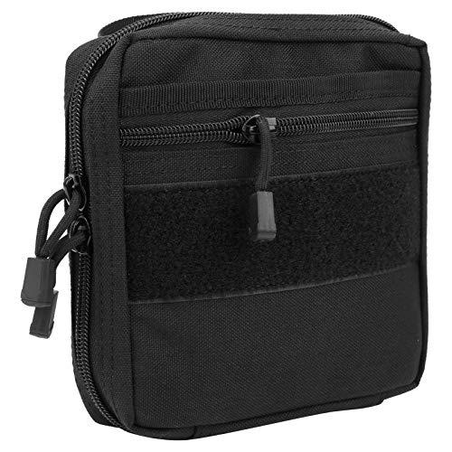 Lucaic Bolsa de herramientas multifunción, bolsa de almacenamiento para accesorios, bolsa de engranajes de uso general, negro, mediano para uso en exteriores