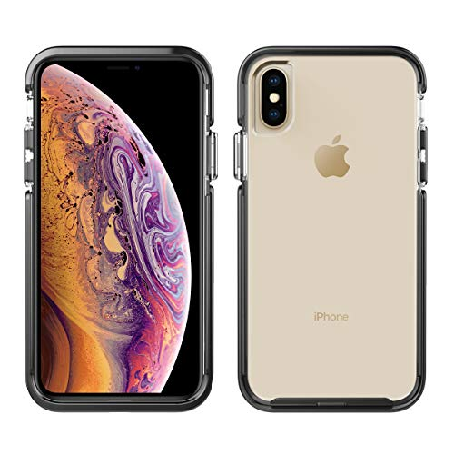 Pelican Ambassador iPhone Xs Case (Also fits iPhone X) - Clear/Black with Silver Button