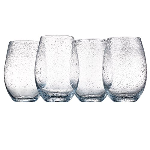 Artland Iris Stemless Glasses, Clear, Set of 4