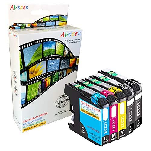 ABECES LC223BKV3 Pack 5 Cartuchos Alta Capacidad COMPATIBLES con Brother LC223 Negro Y Colores