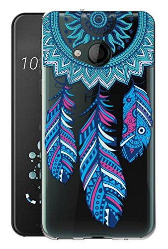 Sunrive Für HTC U Play Hülle Silikon, Transparent Handyhülle Schutzhülle Etui Hülle Backcover für HTC U Play(TPU Traumfänger)+Gratis Universal Eingabestift