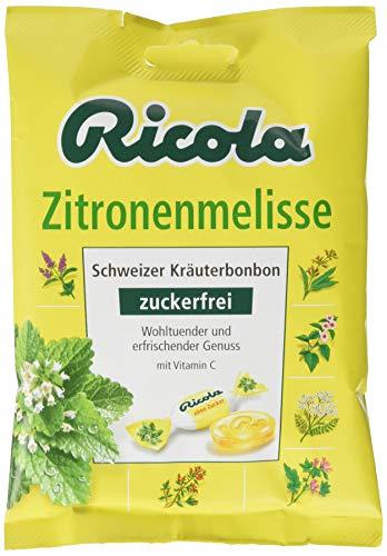 Ricola Zitronenmelisse, Schweizer Kräuterbonbon, 18 x 75g Beutel, ohne Zucker, Wohltuend und erfrischender Genuss