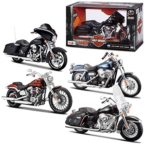 Bburago Maisto France- Moto Harley Davidson-Echelle 1/12-Modèle Aléatoire, M32320, Al&eacuteatoire