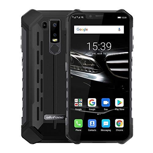 Teléfonos móviles desbloqueados y sin SIM 6E Armadura Resistente teléfono, Dual 4G y Volte, Impermeable a Prueba de Polvo a Prueba de Golpes, y Face ID identificación de Huellas Dactilares, OTG, NFC