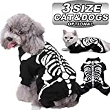 AMENON Halloween Costumes Pets Dogs Cats Skeleton Pets Costume for Small Medium Large Dogs Halloween Party Pet Shirt Cosplay Hoodies Dress Up Funny Pet Clothes Kitten Puppy Apparel (X-Large)