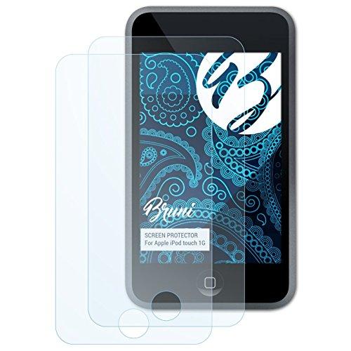 Bruni Schutzfolie kompatibel mit Apple iPod Touch 1G Folie, glasklare Displayschutzfolie (2X)