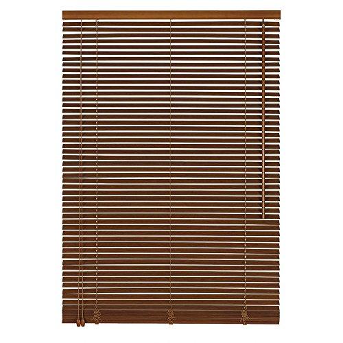 Easy-Shadow Holzjalousie Holz-Jalousie Bambus Jalousette Echtholz Rollo Jalousette 190 x 160 cm / 190x160 cm in Farbe braun - Bedienseite Links // Maßanfertigung