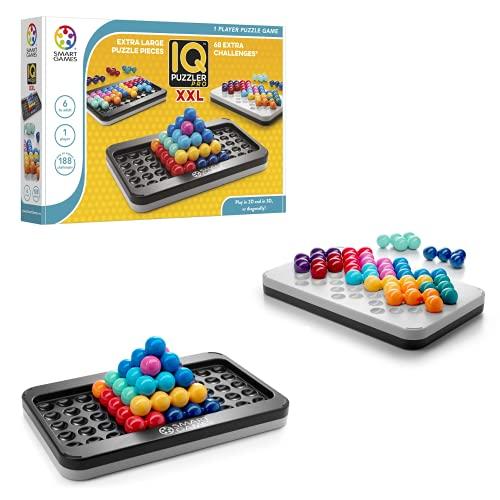 smart games - IQ Puzzler Pro XXL, Kinderpuzzle, Logik, extra großes 3D-Puzzle, Smartgames, Spiele für Kinder, Lernspielzeug SG455XL