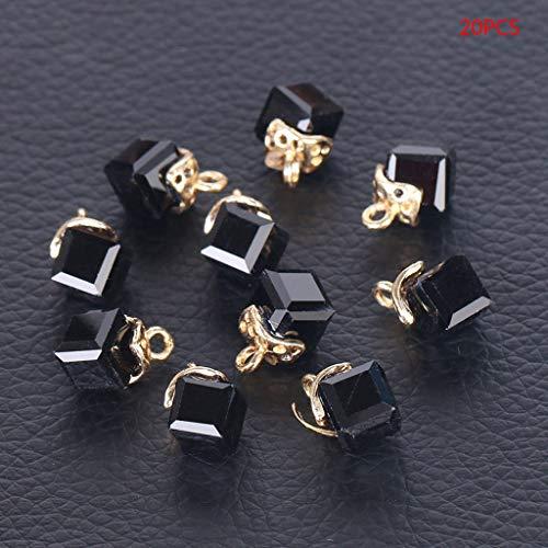 ZJL220 20 cuentas de cristal sueltas de 2 mm, cuentas de cristal facetadas para creacin de joyas, accesorios para bordar joyas