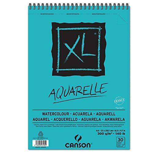 Canson 400039170 - Bloc de dibujo y notas XL para acuarela, DIN A4